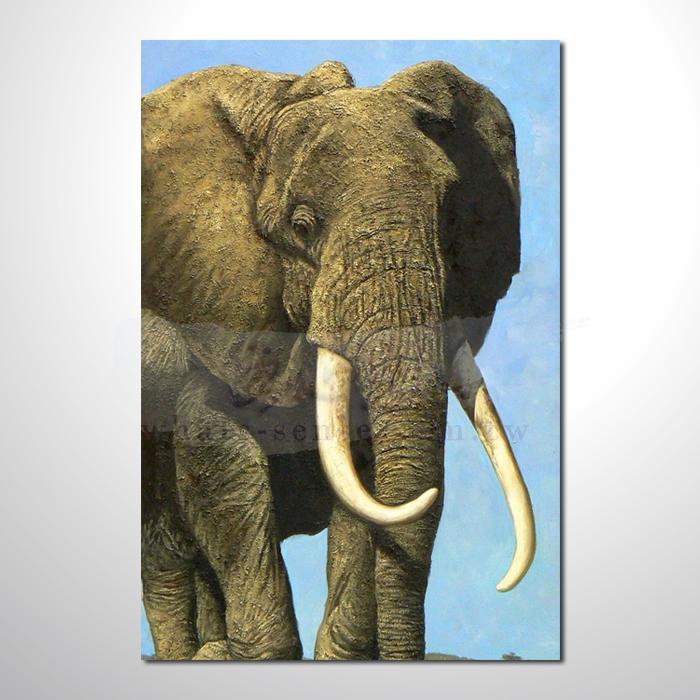 油画 动物王国 大象21 装饰品 山水画 艺术品 插画 无框画 浮雕立体3