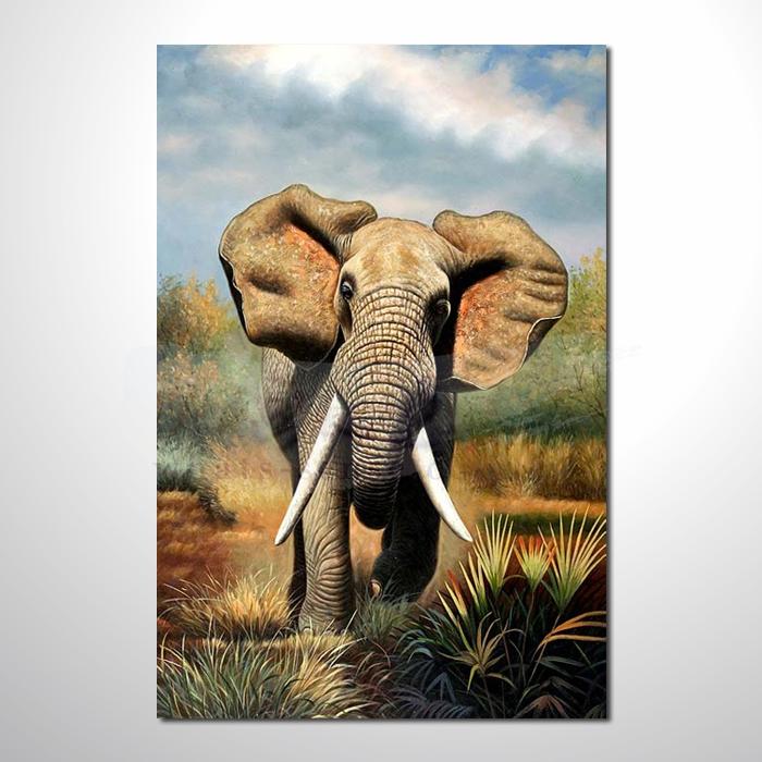 油画 动物王国 大象27 装饰品 山水画 艺术品 插画 无框画 浮雕立体3d