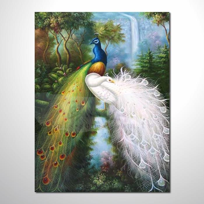 油画 动物王国 孔雀08 装饰品 山水画 艺术品 插画 无框画 浮雕立体3d