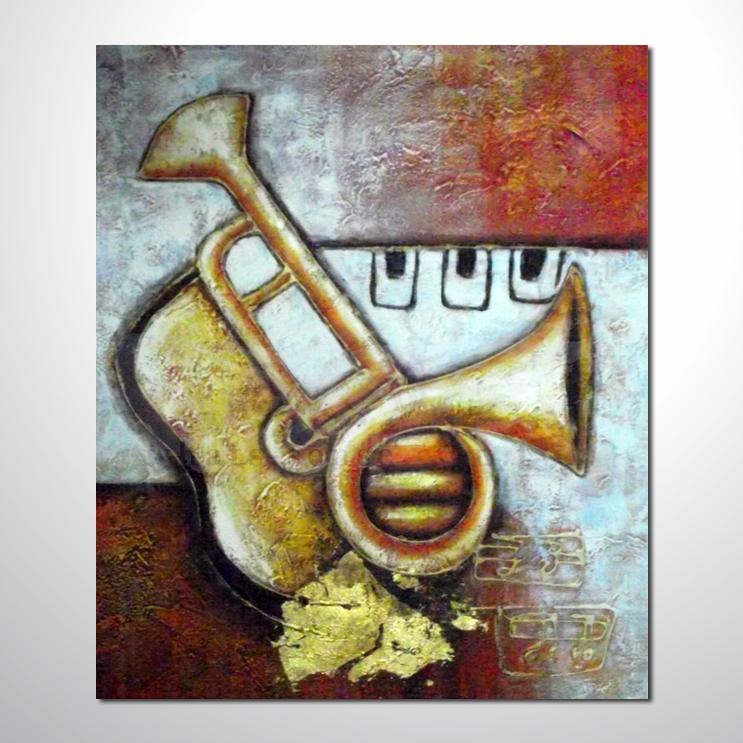卧室挂画/客厅挂画/办公室挂画/室内设计最爱油画 单幅抽象画乐器04