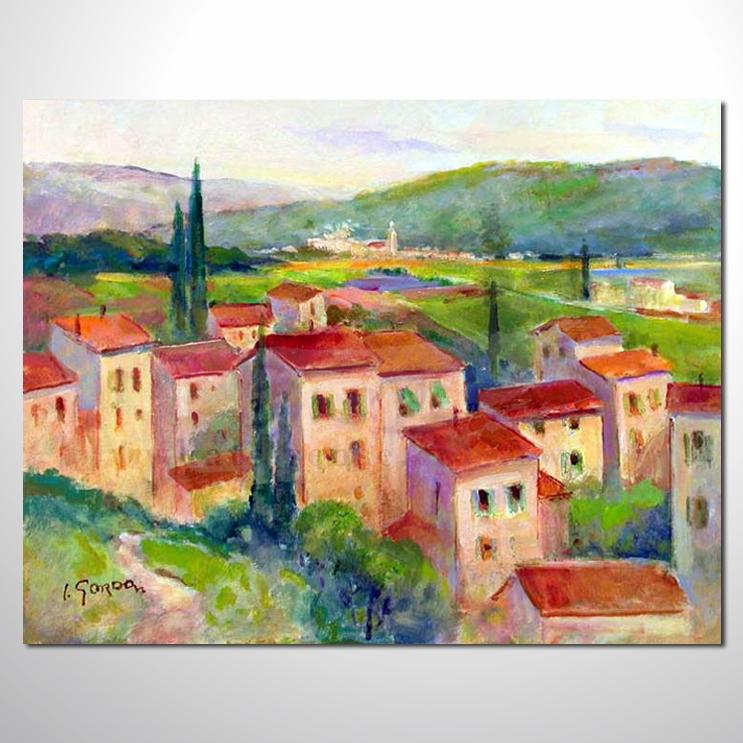 首页 总分类 风景画-游云山水城市之美油画 风景画-蔚蓝地中海油画