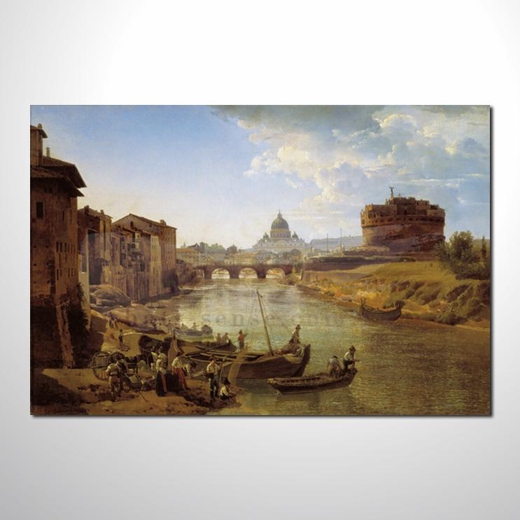 油画 希腊船景40 风景 装饰品 山水画 艺术品 插画 无框画 浮雕立体3d