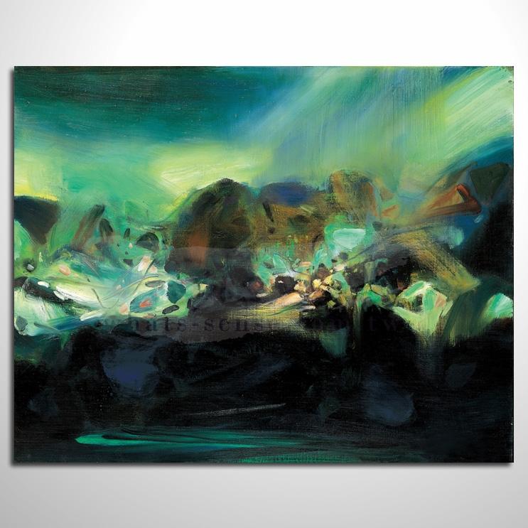 油画 极光 抽象艺术大师 纯手绘 抽象油画 室内设计 居家布置 艺术